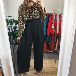 Vintage • Wide Leg Animal Print Jumpsuit
